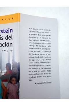 Muestra 1 de INTELECTUALES. WALLERSTEIN Y LA CRISIS DEL ESTADO NACIÓN (Patricia Agosto) Campo de Ideas 2005
