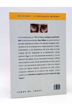 Contracubierta de INTELECTUALES. KEN WILBER Y LA PSICOLOGÍA INTEGRAL (Miguel Grinberg) Campo de Ideas 2005