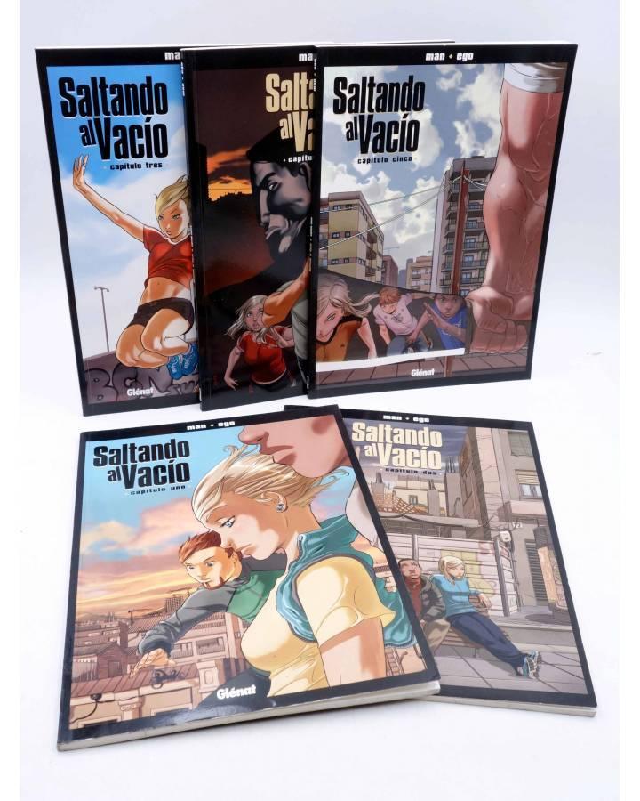 Cubierta de SALTANDO AL VACÍO 1 2 3 4 5. COMPLETA (Man / Migoya) Glenat 2007