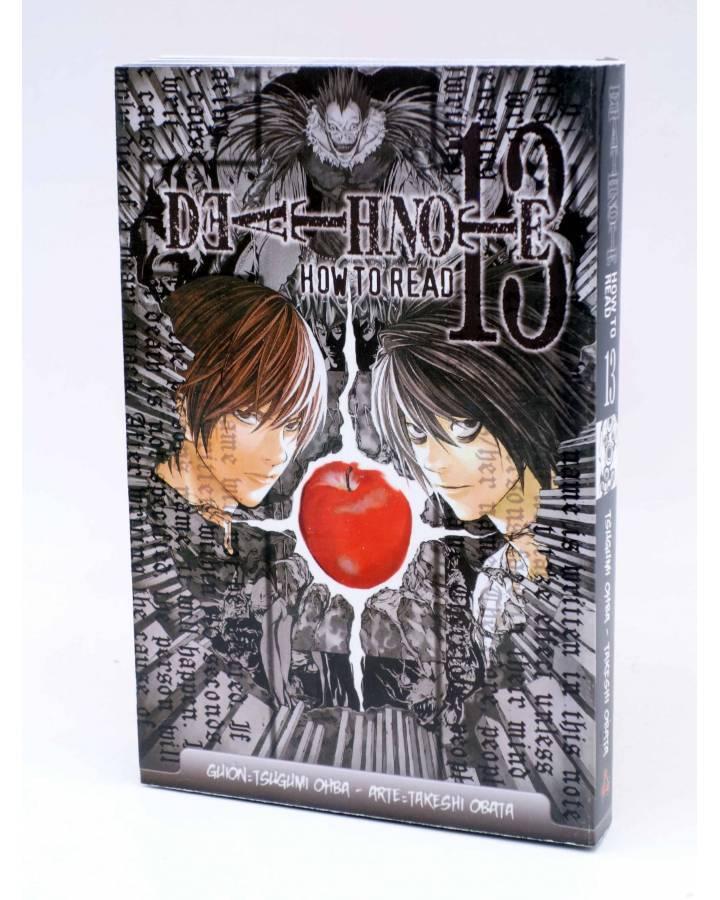 Cubierta de DEATH NOTE 13. HOW TO READ / GUIA DE LECTURA (Tsugumi Ohba / Takeshi Obata) Larp 2015