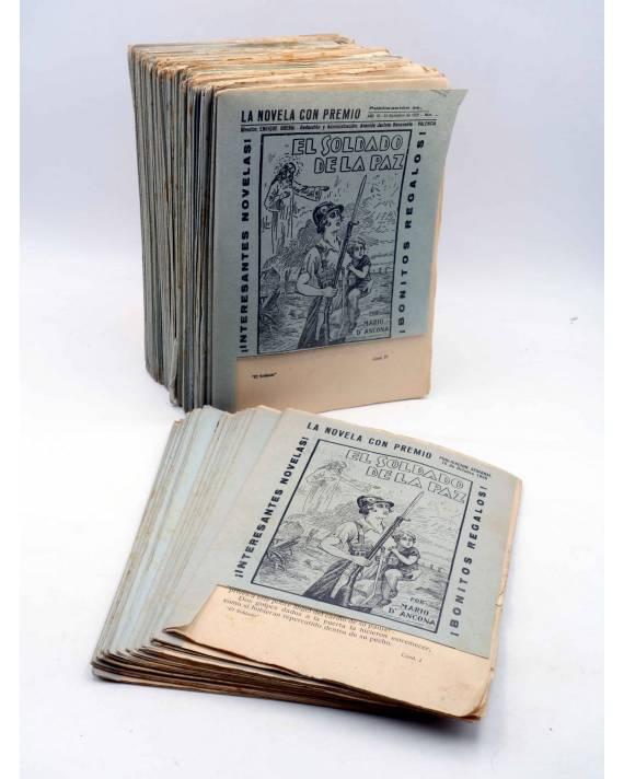 Cubierta de EL SOLDADO DE LA PAZ TOMO 1. COMPLETO 250 CUADERNOS. FOLLETÍN DE LA NOVELA CON PREMIO (Mario D'Ancona) Guerr