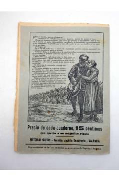 Muestra 3 de EL SOLDADO DE LA PAZ TOMO 1. COMPLETO 250 CUADERNOS. FOLLETÍN DE LA NOVELA CON PREMIO (Mario D'Ancona) Guer