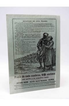 Contracubierta de CUBIERTA FOLLETÍN EL SOLDADO DE LA PAZ. LA NOVELA CON PREMIO (Mario D'Ancona) Guerri 1929