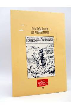 Contracubierta de LOS ARCHIVOS EL BOLETÍN 2. LOS PRIMEROS TEBEOS (Enric Badía Romero) El Boletín 1993