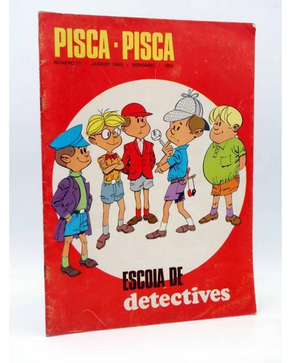Cubierta de MENSARIO PISCA PISCA 11. ESCOLA DE DETECTIVES (Vvaa) Mocidade 1969