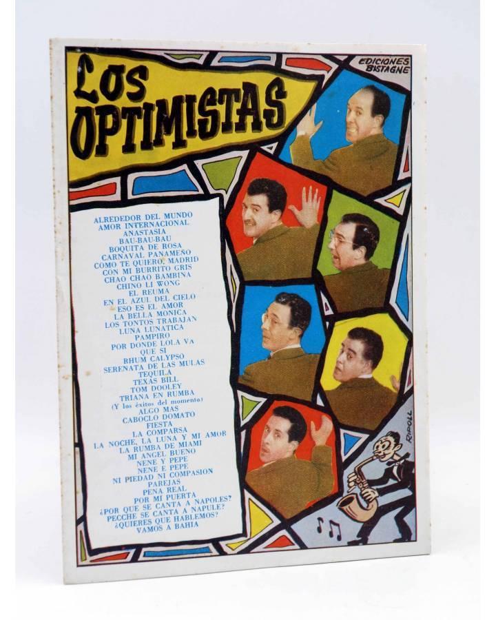 Cubierta de CANCIONERO. LOS OPTIMISTAS Y ÉXITOS DEL MOMENTO. Bistagne 1959