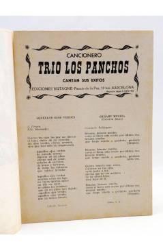 Muestra 1 de CANCIONERO 24. LOS PANCHOS CANTAN SUS ÉXITOS. Bistagne 1962