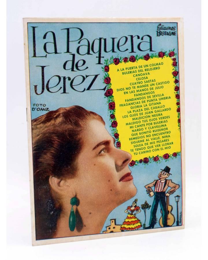 Cubierta de CANCIONERO. LA PAQUERA DE JEREZ SUS GRANDES CREACIONES. Bistagne 1960