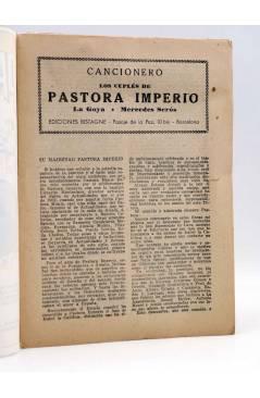 Muestra 1 de CANCIONERO. PASTORA IMPERIO LA GOYA MERCEDES SERÓS: CUPLÉS. Bistagne Circa 1950