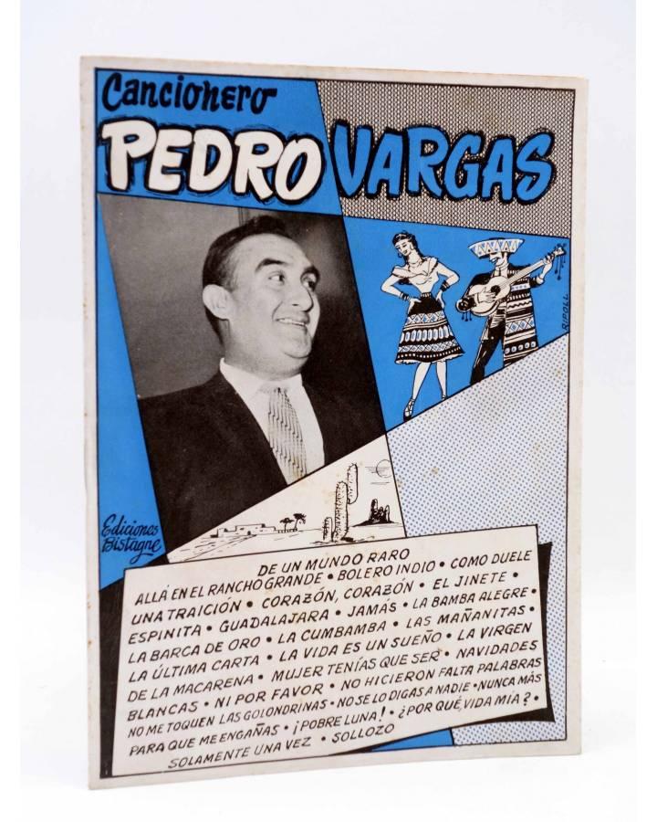 Cubierta de CANCIONERO. PEDRO VARGAS. SUS GRANDES ÉXITOS EN DISCOS. Bistagne Circa 1950