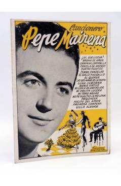 Cubierta de CANCIONERO. PEPE MAIRENA. Bistagne Circa 1950