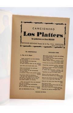 Muestra 1 de CANCIONERO. LOS PLATTERS. GRABACIONES EN DISCOS MERCURY. Bistagne 1960