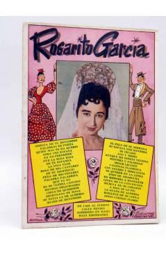 Cubierta de CANCIONERO. ROSARITO GARCÍA. SUS ÉXITOS EN DISCOS BELTER.. Bistagne 1961