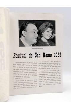 Contracubierta de CANCIONERO. SAN REMO '61 1961: MILVA. Bistagne 1961