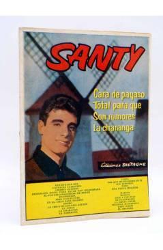 Cubierta de CANCIONERO 12. SANTY CASTELLANOS. SUS ÉXITOS EN DISCOS BELTER. Bistagne 1962