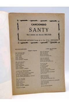 Contracubierta de CANCIONERO 12. SANTY CASTELLANOS. SUS ÉXITOS EN DISCOS BELTER. Bistagne 1962