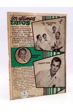 Cubierta de CANCIONERO. ÚLTIMOS ÉXITOS: EDUARDO GADEA LAUREN VERA 4 ASES. Bistagne Circa 1950