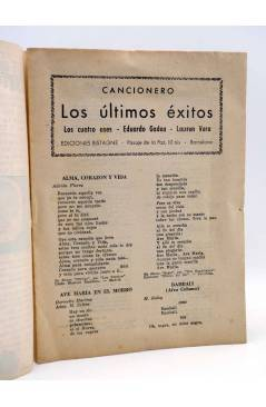 Muestra 1 de CANCIONERO. ÚLTIMOS ÉXITOS: EDUARDO GADEA LAUREN VERA 4 ASES. Bistagne Circa 1950