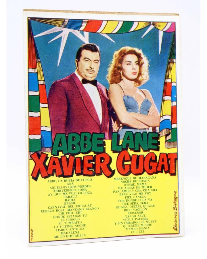 Cubierta de CANCIONERO. XAVIER CUGAT Y ABBE LANE. SELECCIÓN DE SUS ÉXITOS. Bistagne 1959