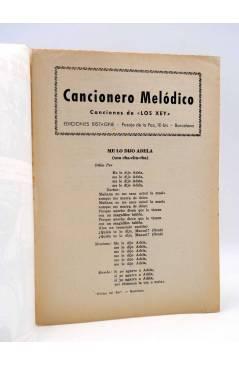 Contracubierta de CANCIONERO. LOS XEY SELECCIÓN DE SUS ÉXITOS EN DISCOS COLUMBIA. Bistagne Circa 1950
