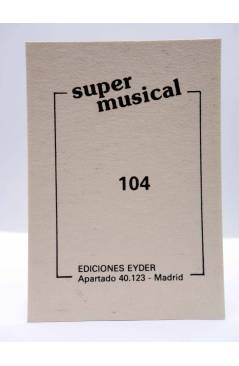 Contracubierta de CROMO SUPER MUSICAL 104. OMD ORCHESTRAL MANEOUVRES IN THE DARK (Omd Orchestral Maneouvres In The Dark)