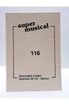 Contracubierta de CROMO SUPER MUSICAL 116. DEVO (Devo) Eyder Circa 1980