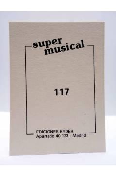 Contracubierta de CROMO SUPER MUSICAL 117. GRACE JONES (Grace Jones) Eyder Circa 1980