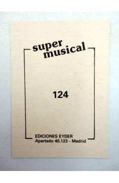 Contracubierta de CROMO SUPER MUSICAL 124. OLÉ OLÉ (Olé Olé) Eyder Circa 1980