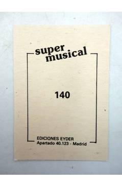 Contracubierta de CROMO SUPER MUSICAL 140. CAT STEVENS (Cat Stevens) Eyder Circa 1980