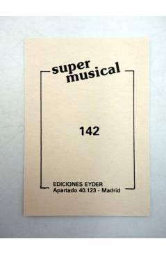 Contracubierta de CROMO SUPER MUSICAL 142. ANA BELÉN (Ana Belén) Eyder Circa 1980