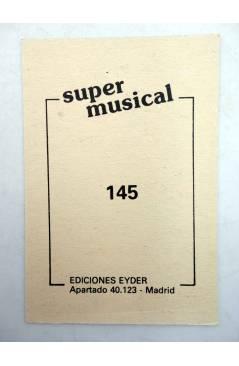 Contracubierta de CROMO SUPER MUSICAL 145. CECILIA (Cecilia) Eyder Circa 1980