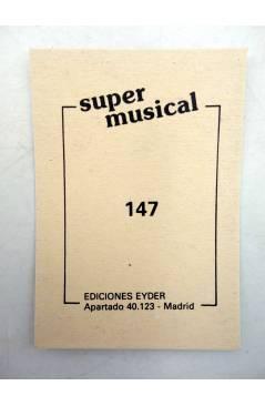 Contracubierta de CROMO SUPER MUSICAL 147. JOSÉ LUÍS PERALES (José Luís Perales) Eyder Circa 1980
