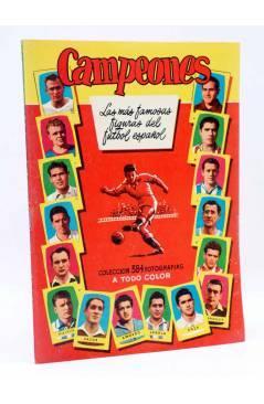 Cubierta de ALBUM DE CROMOS VACÍO CAMPEONES 1955. FUTBOL ESPAÑOL 1ª Y 2ª DIVISIÓN. Bruguera 1955