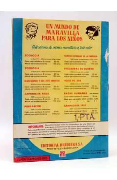 Contracubierta de ALBUM DE CROMOS VACÍO CAMPEONES 1955. FUTBOL ESPAÑOL 1ª Y 2ª DIVISIÓN. Bruguera 1955