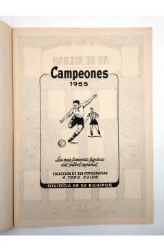 Muestra 1 de ALBUM DE CROMOS VACÍO CAMPEONES 1955. FUTBOL ESPAÑOL 1ª Y 2ª DIVISIÓN. Bruguera 1955