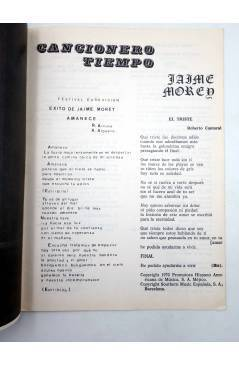 Muestra 1 de CANCIONERO TIEMPO. JAIME MOREY. EUROVISIÓN 72 (Jaime Morey) Vilmar 1972