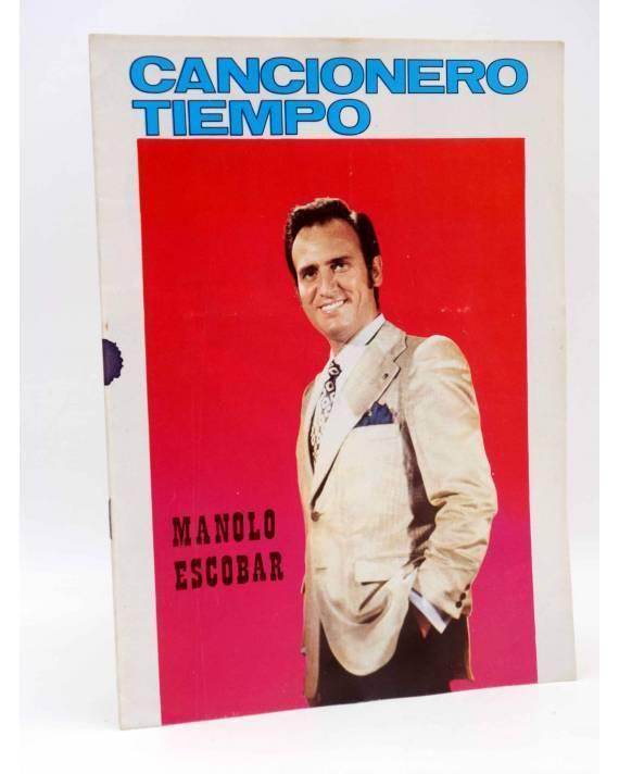 Cubierta de CANCIONERO TIEMPO. MANOLO ESCOBAR. PORTADA BLANCA (Manolo Escobar) Vilmar 1971