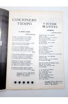 Muestra 1 de CANCIONERO TIEMPO. VÍCTOR MANUEL (Victor Manuel) Vilmar 1971