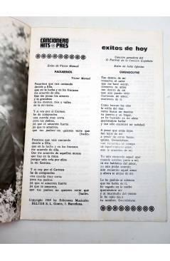 Muestra 1 de CANCIONERO HITS PRES. ÉXITOS DE HOY (Julio Iglesias / Raphael / Víctor Manuel) Presidente 1970