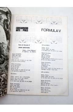 Muestra 1 de CANCIONERO HITS PRES. FÓRMULA V (Fórmula V) Presidente 1970