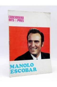 Cubierta de CANCIONERO HITS PRES. MANOLO ESCOBAR (Manolo Escobar) Presidente 1969