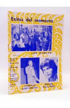 Cubierta de CANCIONERO. ÉXITOS DEL MOMENTO: LOS DIABLOS LORENZO SANTAMARÍA MIGUEL GALLARDO (Los Diablos) Marazul 1976