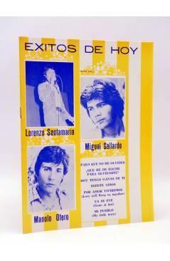Cubierta de CANCIONERO. ÉXITOS DE HOY: LORENZO SANTAMARÍA MIGUEL GALLARDO MANOLO OTERO (Lorenzo Santamaría) Marazul 1976