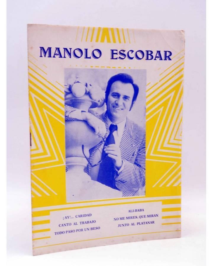 Cubierta de CANCIONERO. MANOLO ESCOBAR (Manolo Escobar) Marazul 1974
