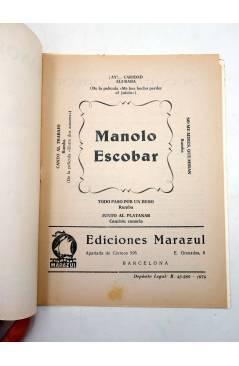 Muestra 1 de CANCIONERO. MANOLO ESCOBAR (Manolo Escobar) Marazul 1974