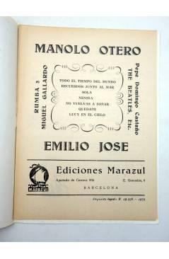 Muestra 1 de CANCIONERO. MANOLO OTERO / EMILIO JOSÉ (Manolo Otero / Emilio José) Marazul 1975