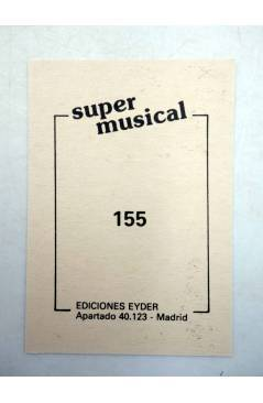 Contracubierta de CROMO SUPER MUSICAL 155. DANIELA ROMO (Daniela Romo) Eyder Circa 1980