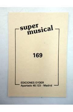 Contracubierta de CROMO SUPER MUSICAL 169. LOS CHUNGUITOS (Los Chunguitos) Eyder Circa 1980