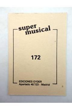 Contracubierta de CROMO SUPER MUSICAL 172. EL FARY (El Fary) Eyder Circa 1980