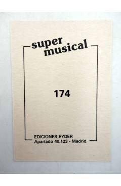 Contracubierta de CROMO SUPER MUSICAL 174. REMEDIOS ANAYA (Remedios Anaya) Eyder Circa 1980